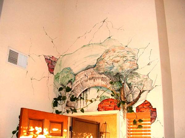Bạn là một người có hoa tay và khả năng hội họa, nếu vậy bức tường phòng cũng có thể trở thành tác phẩm của chính bạn.
