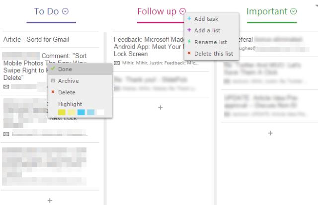 Email sẽ được sắp xếp theo các chủ đề riêng