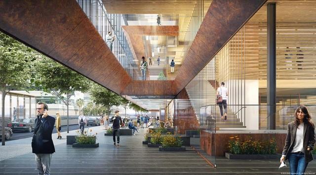 Thiết kế cầu thang trụ sở mới của Uber