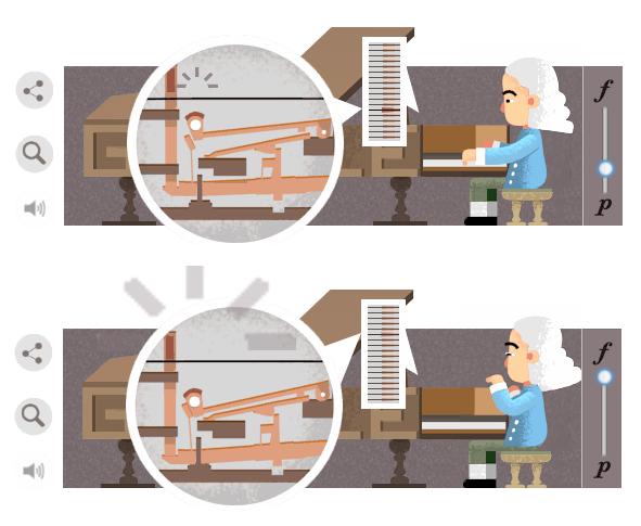 Một trong những phát minh vĩ đại nhất của Cristofori là việc chế tạo ra cơ chế búa gõ tạo ra âm thanh trên piano