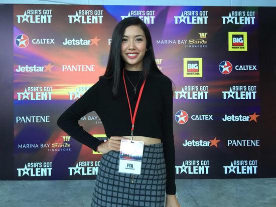 Á khôi Thúy Vân duyên dáng, xinh đẹp tại trường quay của Tìm kiếm tài năng châu Á - Asians Got Talent 2015