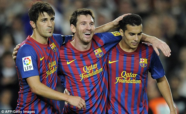 Bộ ba David Villa - Messi - Pedro đạt hiệu suất 0,61 bàn/trận