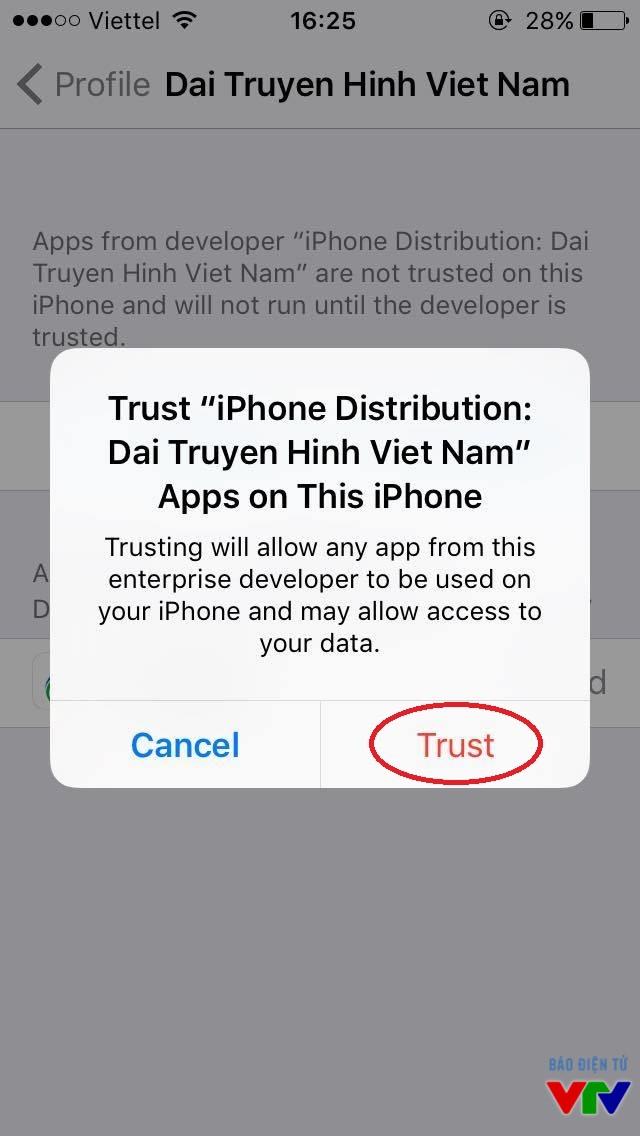 Xác thực độ tin cậy của ứng dụng