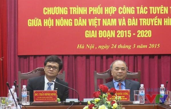 Ông Trần Bình Minh - Tổng Giám đốc Đài THVN và ông Nguyễn Quốc Cường -