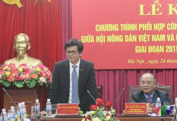 Ông Trần Bình Minh - Tổng Giám đốc Đài THVN phát biểu tại Lễ ký kết