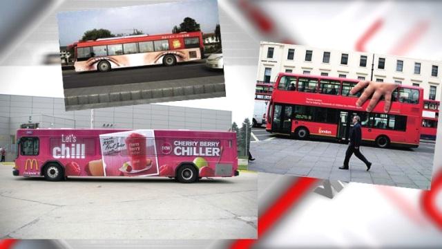 Quảng cáo trên xe bus cũng là hình thức được nhiều quốc gia trên thế giới áp dụng.