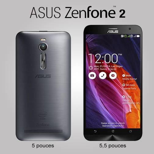 Hình ảnh Zenfone 2 phiên bản 5 inch và 5,5 inch trên Facebook của Asus tại Pháp (Ảnh: Zing.vn)