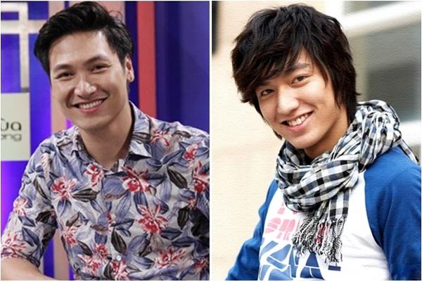 Cả Mạnh Trường và Lee Min Ho đều sở hữu nụ cười tươi rói và ánh mắt hút hồn.