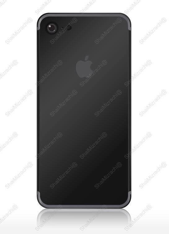 Ảnh concept iPhone 7 phiên bản Space Black đăng tải trên trang Twitter của Shai Mizrachi