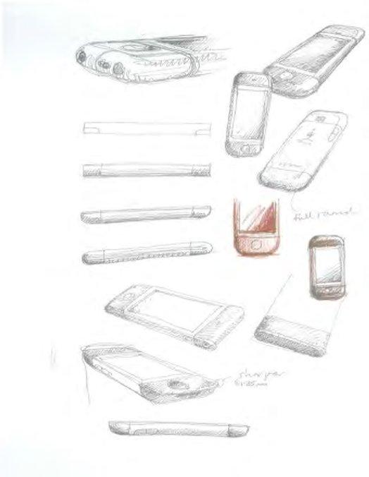 Bản phác thảo thiết kế của iPhone