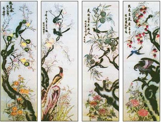Bộ tranh Bốn mùa của Tranh Đông Hồ