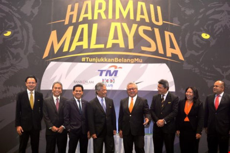 """Xưa nay """"nick"""" của tuyển quốc gia Malaysia là Harimau Malaya nay là HarimauMalaysia."""