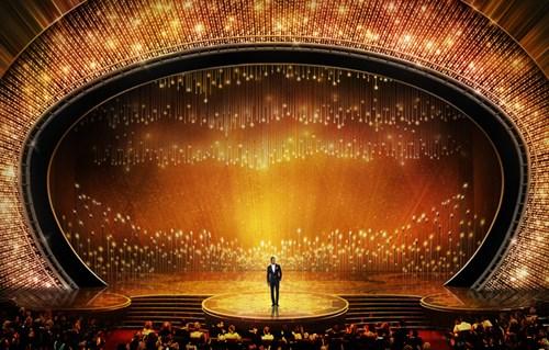 Sân khấu triệu đô của nhà hát Dolby cho Oscar năm nay (Ảnh: Theverge)