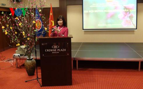 Đại sứ đặc mệnh toàn quyền nước CHXHCN Việt Nam tại Slovakia, bà Hồ Đắc Minh Nguyệt phát biểu khai mạc tại Dạ hội.