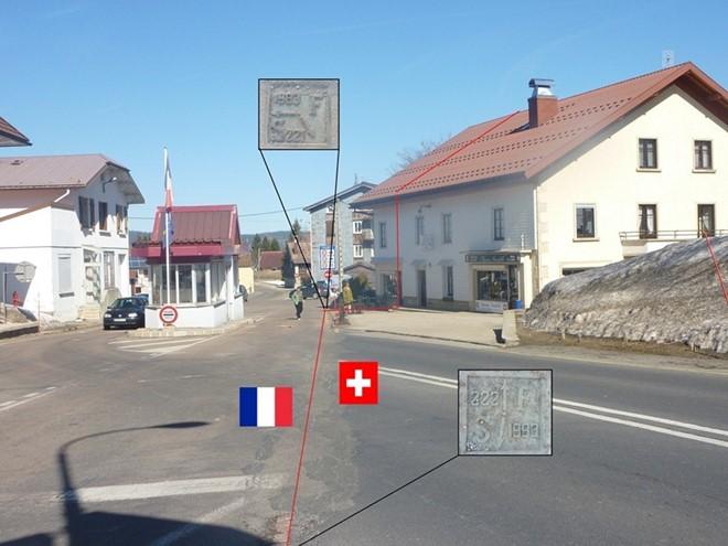 Đường biên giới chạy qua giữa khách sạn.