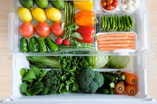 Bảo quản rau quả ở một ngăn riêng biệt trong tủ lạnh