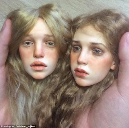 Những búp bê do Michael Zajkov tạo ra có ánh mắt và làn da giống hệt người thật