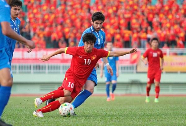 Công Phượng (số 10) và các đồng đội được kỳ vọng sẽ làm nên bất ngờ trước U23 Jordan