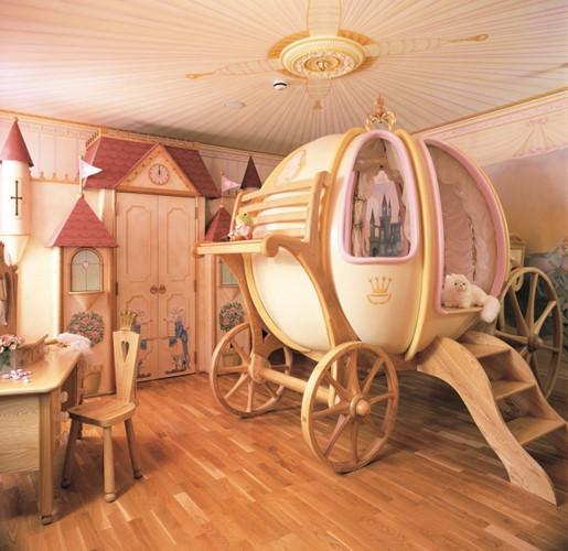 Phòng ngủ theo phong cách cô bé Lọ Lem là giấc mơ của nhiều bé gái.