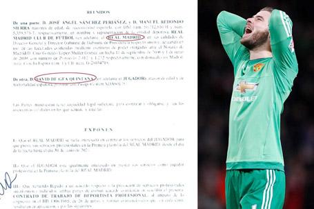 Hợp đồng của De Gea với Real Madrid