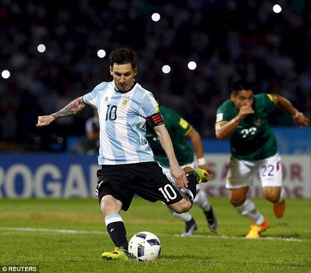 Messi đã có 50 bàn thắng cho ĐT Argentina