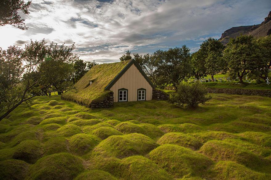 Ngôi nhà ở Hofskirkja, Iceland