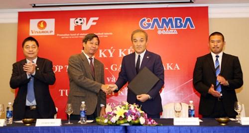 PVF chính thức ký kết hợp tác toàn diện cùng CLB Gamba Osaka của Nhật Bản