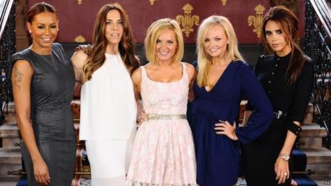 Các thành viên của nhóm nhạc nữ Anh Spice Girls. Ảnh: BBC
