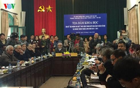 Rất đông các nhà khoa học có mặt tại buổi tọa đàm về ấn gỗ Sắc mệnh chi bảo