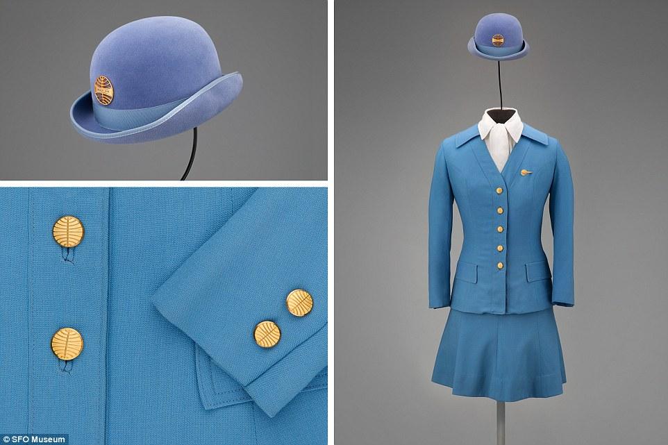 """Frank Smith tạo nên mẫu trang phục này cho Pan American World Airways (Pan Am) vào năm 1971. Nó còn được gọi là """"đồng phục cho thời đại máy bay phản lực siêu âm""""."""