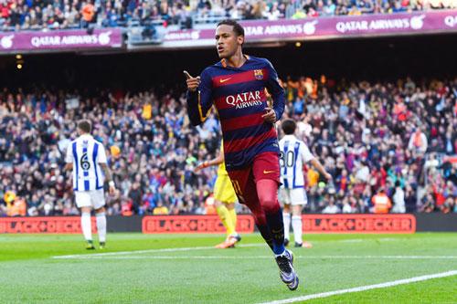 Tiền đạo: Neymar (Barcelona, 1992).