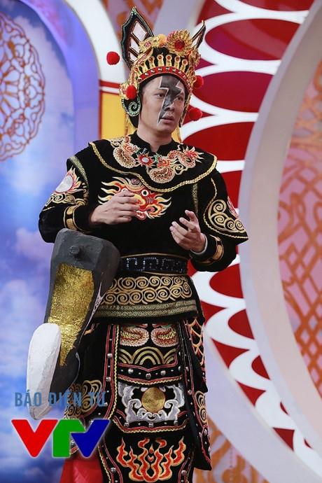 Bình Minh trong vai Thiên Lôi trong Táo quân 2016 (Ảnh: Đào Lưu Nhân Ái).