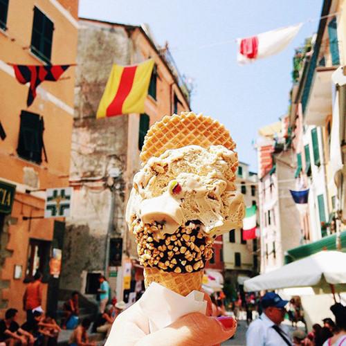 Kem Pistachio Gelato ở Italy.