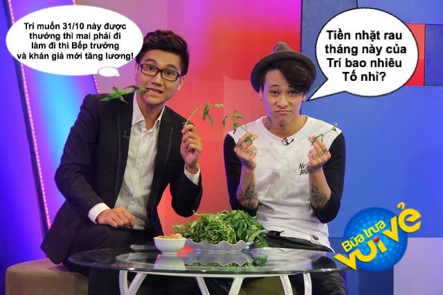 MC Công Tố và DJ Minh Trí cũng không ít khoảnh khoắc nhí nhố tại nhà hàng