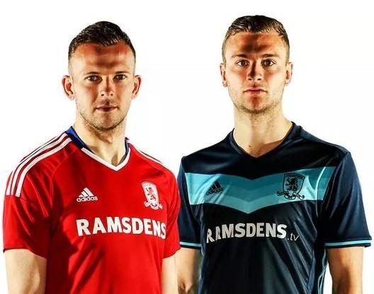 Áo đấu của tân binh Middlesbrough sau 7 năm vắng bóng tại Premier League
