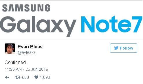 Evan Blass đăng tải hình ảnh xác nhận tên của phiên bản Galaxy Note kế tiếp