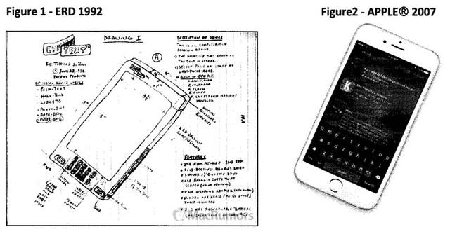 Chiếc iPhone của Apple được cho là ăn cắp ý tưởng của một thiết bị được thiết kế từ trước đó 15 năm