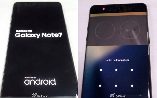 Hình ảnh rò rỉ cho thấy Galaxy Note 7 được trang bị máy quét võng mạc
