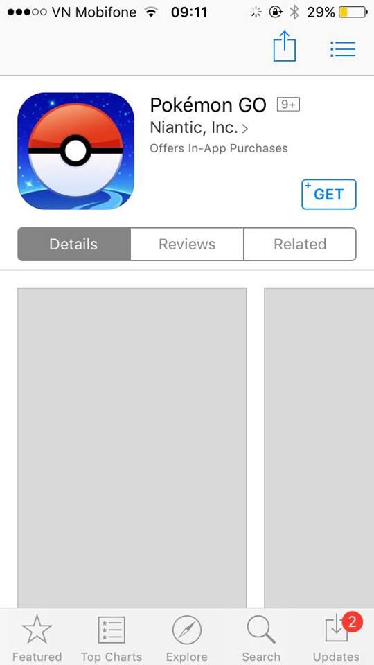 Tải Pokémon Go trên thiết bị iOS