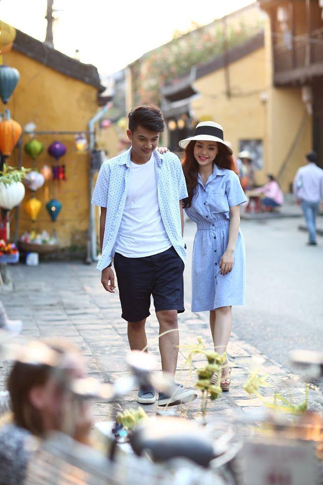 Quang Tuấn cùng vợ sắp cưới Linh Phi chụp ảnh tại Hội An.