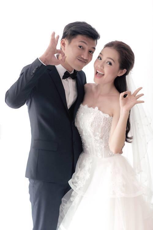 Diễn viên Quang Tuấn khoe ảnh cưới với vợ - ca sĩ, diễn viên Linh Phi