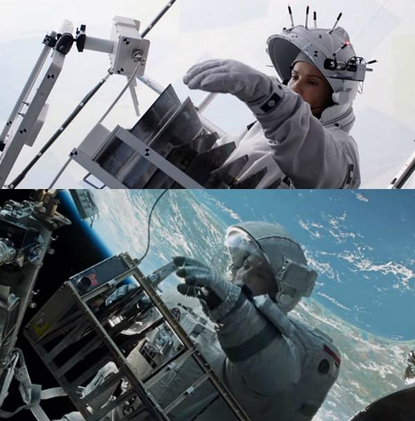 Kỹ xảo cũng giúp người xem Gravity được dịp du hành trong vũ trụ cùng các nhân vật.
