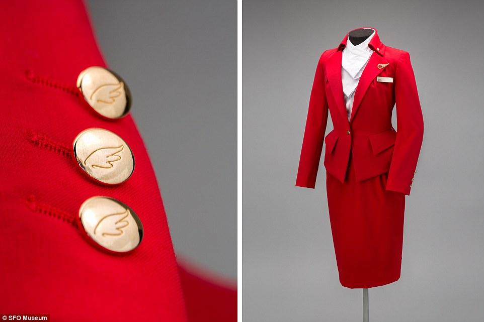 Hãng hàng không Virgin Atlantic giới thiệu mẫu trang phục màu đỏ bắt mắt với áo khoác và váy bút chì do nhà thiết kế Vivienne Westwood, trình làng năm 2014.
