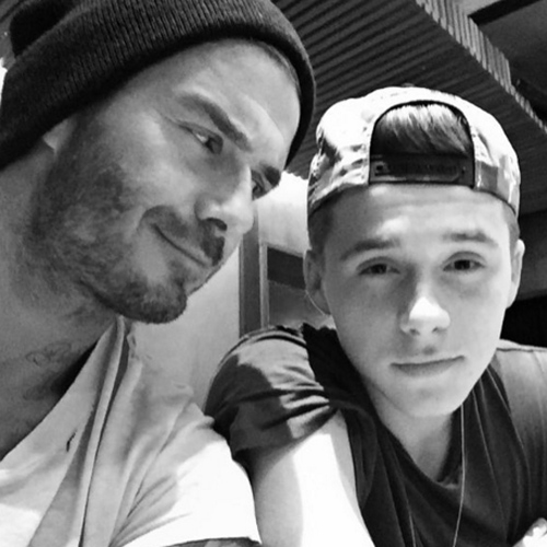 Beckham và con trai Brooklyn (Ảnh: Instagram)