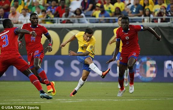 Philippe Coutinho lập hattrick trong thắng lợi ấn tượng của Brazil trước Haiti