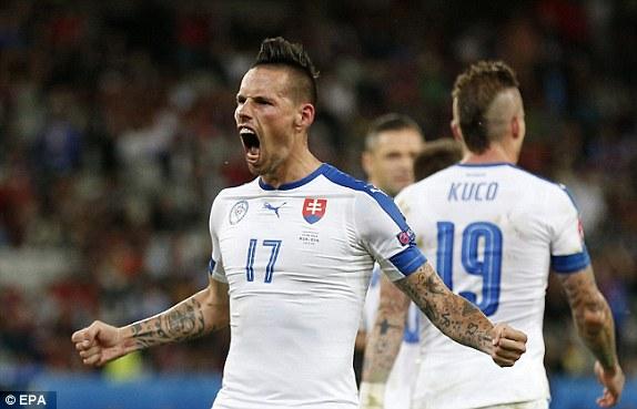 Hamsik tỏa sáng giúp ĐT Slovakia giành trọn 3 điểm