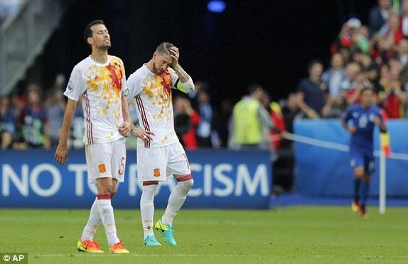 ĐT Tây Ban Nha thi đấu không thành công tại EURO 2016