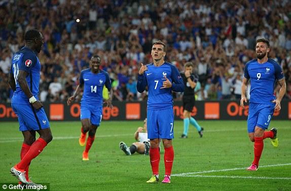 Griezmann đã có 6 bàn thắng & 2 đường kiến tạo tại EURO 2016