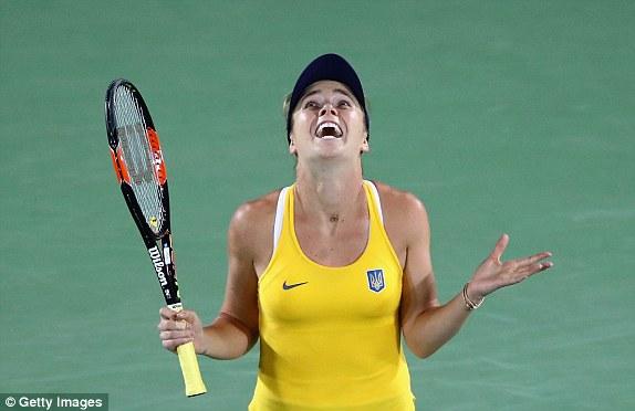Niềm vui chiến thắng của tay vợt trẻ Elina Svitolina. Ảnh: Getty