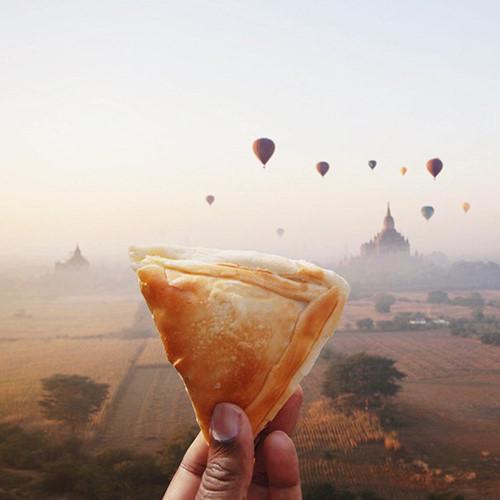 Puff – một món ăn của đất nước Myanmar.